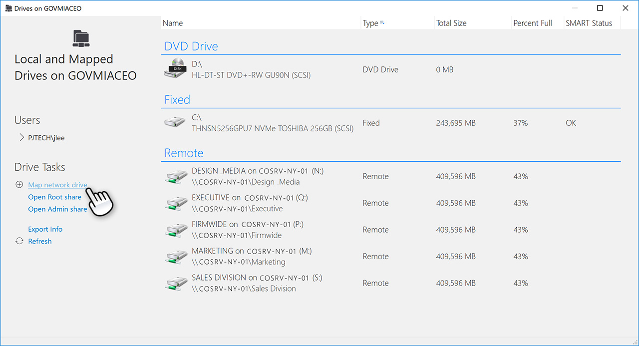 Manage User Drive Mappings and User Printers
